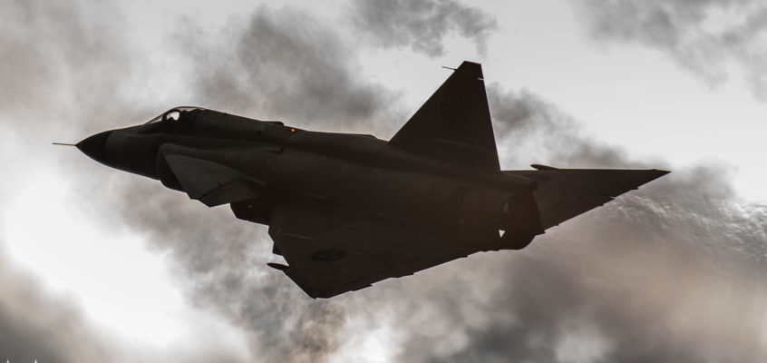 Photo of the day: Viggen against the Sun