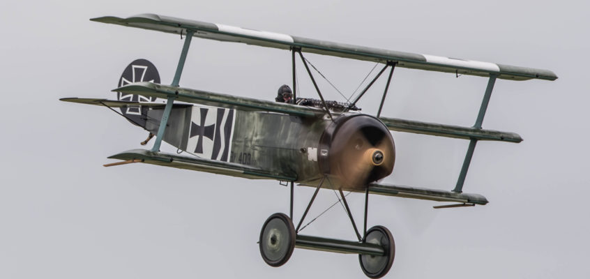 Photo of the day: Fokker Dreidecker in mad riffle attack
