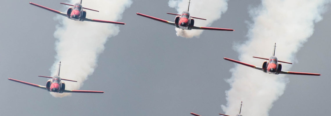Photo of the day: Patrulla Aguilla facing the crowd
