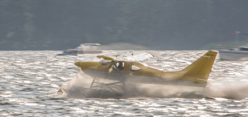 Photo of the day: Take off from the lake