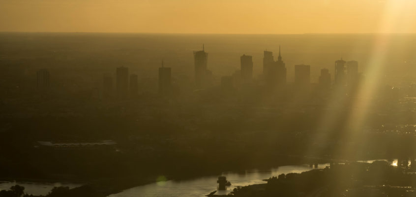 Photo of the day: Plane's view to a sunset over Warsaw