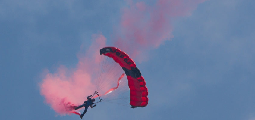 Photo of the Day:  Parachuter opening this week
