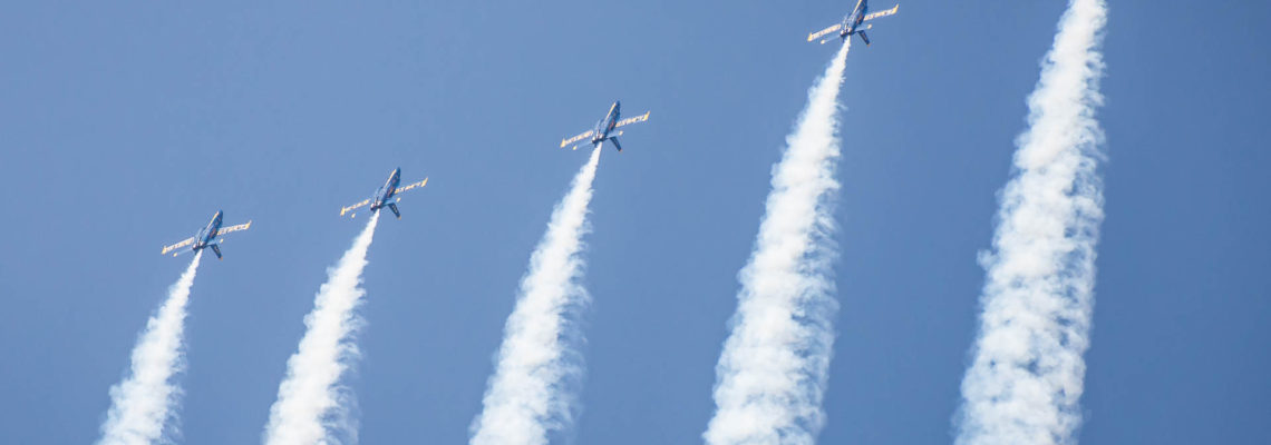 Photo of the day: Five Angels over blue sky