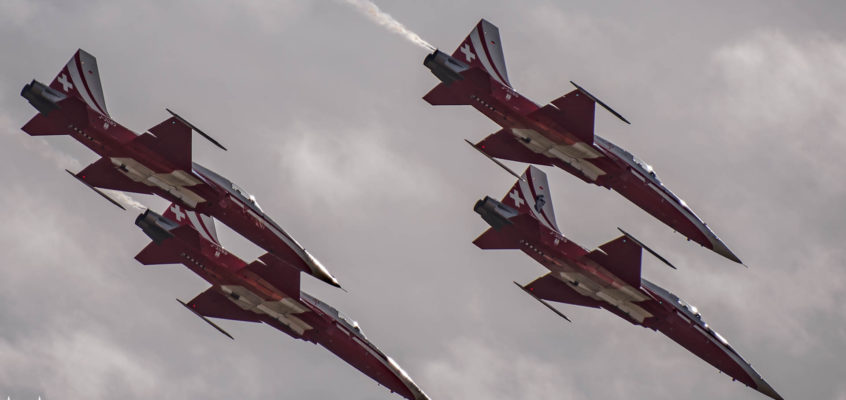 Photo of the day: Patrouille Suisse over the Alps