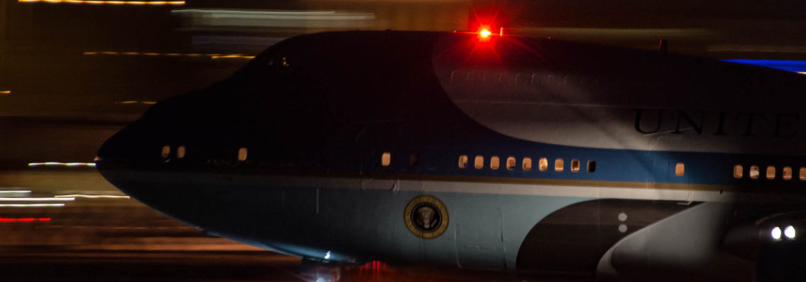 Photo of the day: Air Force One with the most important passanger on board