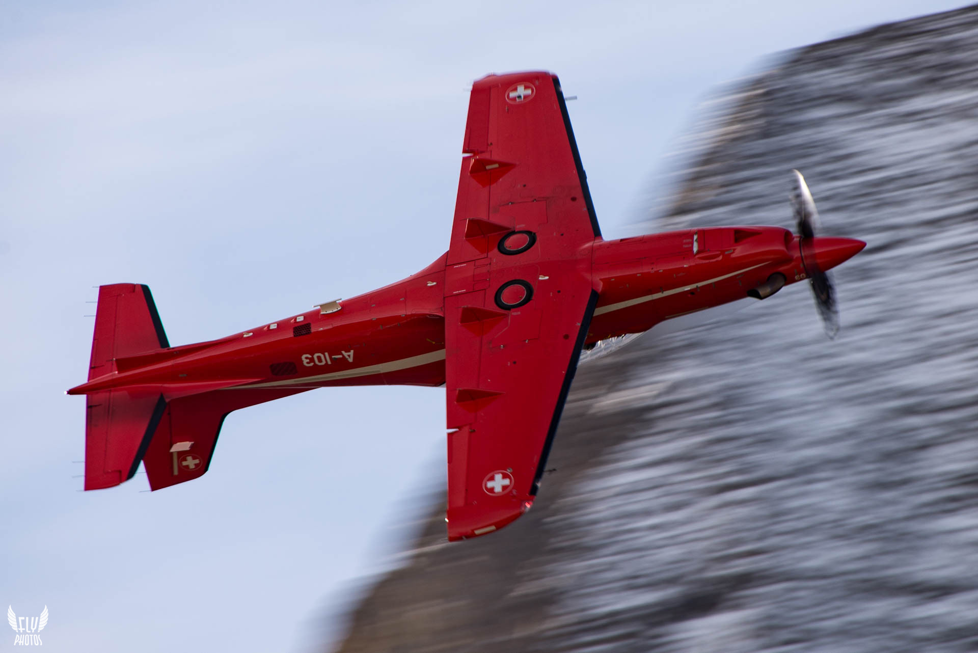 Photo of the day: Red Pilatus is sooo red