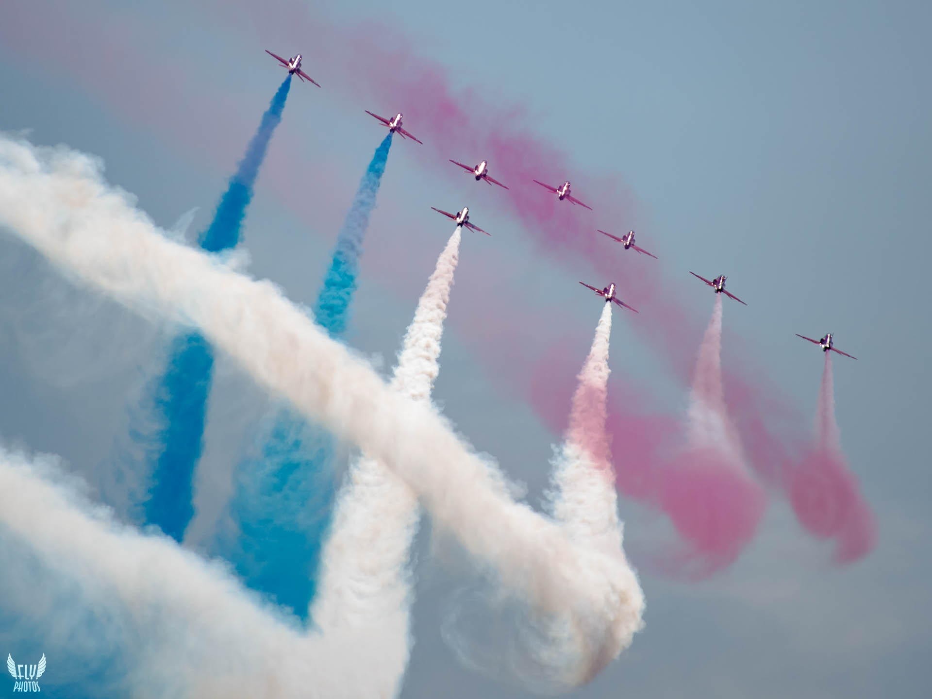 Photo of the day: The Reds, the blues and the whites;)