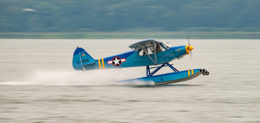 Photo of the day: smooth landing on Niegocin lake