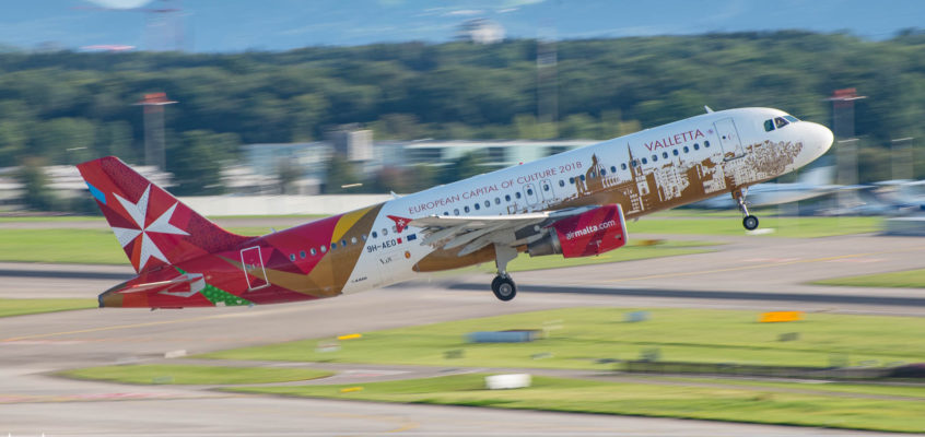 Photo of the day: AirMalta taking off from Zurich Airport