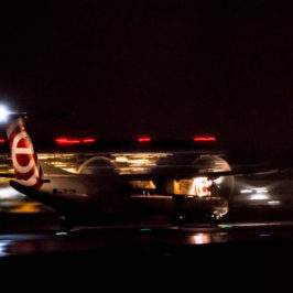 Photo of the day: LOT taking off by night