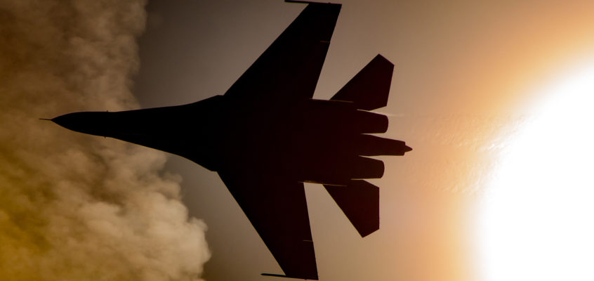 Photo of the day: Can SU-27 actually burn the Sun?
